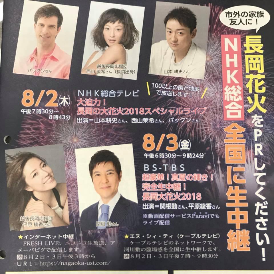 テレビ 長岡 2019 花火