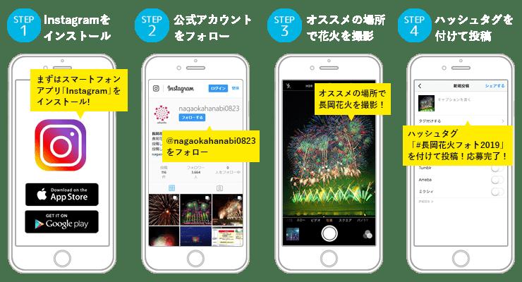 長岡花火Instagramフォトコンテスト 応募方法